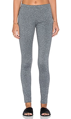 Plush Fleece Lined Marled Legging in Black & White