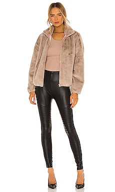 Plush Fleece Lined Liquid Moto Legging On sale