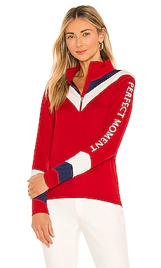 Chevron Thermal 1/2 Zip Sweater Perfect Moment $350