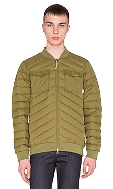 Poler Down Bomber Jacket in Mossy