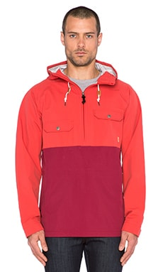 Poler Ranger 2.5L Anorak in Red/Burgundy