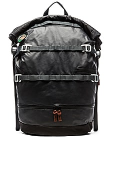 Poler High & Dry 40L Rolltop Backpack in Black