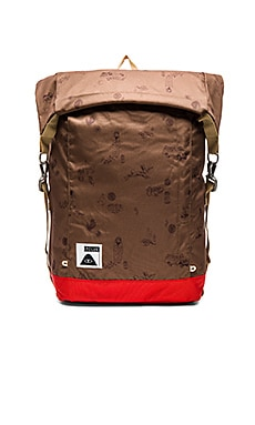 Poler Rolltop in Super Bison & Bright Red
