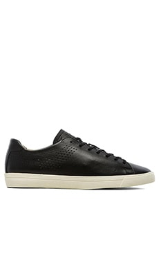 Pony Topstar OX Deconstructed Leather in Black Off White