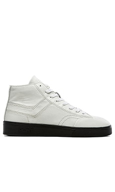 Pony Vintage Slamdunk Hi Premium Stitch in White Black