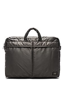 Porter-Yoshida & Co. Tanker 2Way Briefcase in Silver