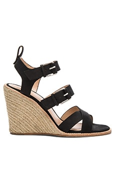 Oralee Wedge in Black Nubuck