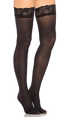 Купить Кружевные чулки velvet - Pretty Polly, Чулки и носки, Италия, Черный