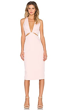 Premonition Indie Deep V Dress in Blush