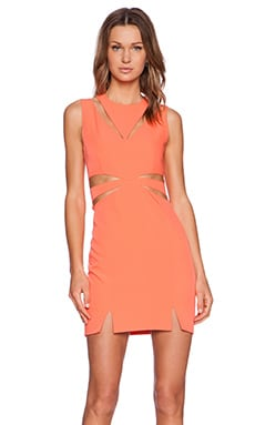 Premonition Neon Lights Dress in Melon