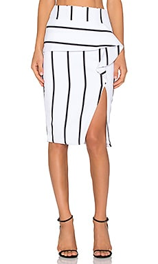Premonition Saint Louis Midi Skirt in White & Black