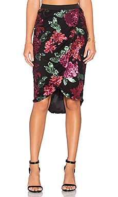 Premonition Rafiki Skirt in Multi Red