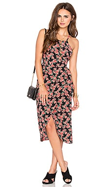 Privacy Please Nassau Wrap Dress in Rosette