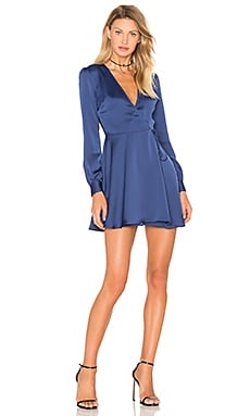 Privacy Please Castor Wrap Dress in Navy
