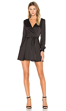 Privacy Please Castor Wrap Dress in Black