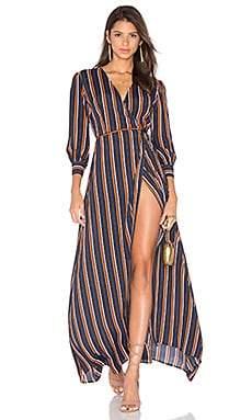 Privacy Please Roger Dress in Navy Stripe