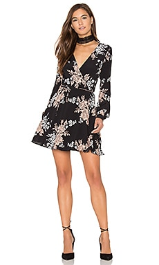 Castor Wrap Dress in Black