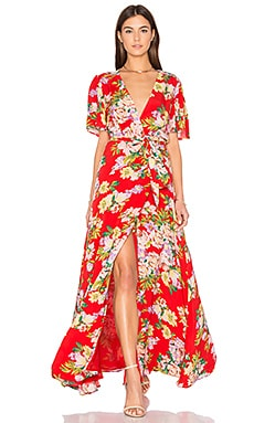 x REVOLVE Plaza Kimono Dress in Red