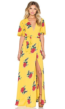 Privacy Please Plaza Kimono Dress in Canary