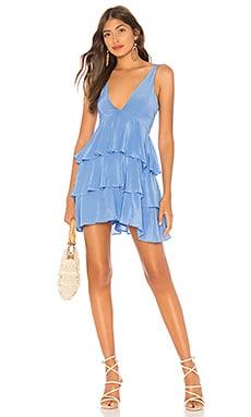 Фото - Ярусное платье с рюшами hacienda - Privacy Please синего цвета