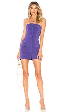 Купить Мини платье на пуговицах teegan - Privacy Please фиолетового цвета