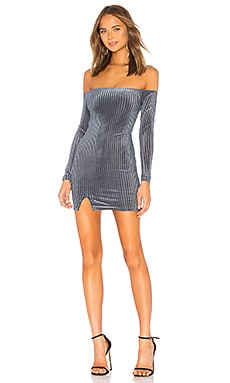 Купить Мини-платье с открытыми плечами phillips - Privacy Please синего цвета