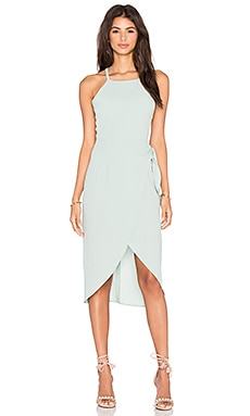 Privacy Please Nassau Wrap Dress in Champney