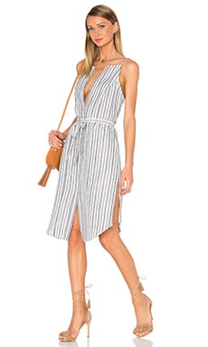 Privacy Please Silgo Dress in Navy Stripe