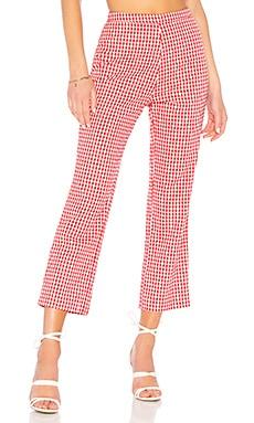 Укороченные брюки baldwin - Privacy Please, Красный, Высокая талия