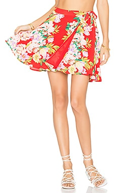 x REVOLVE Randall Skirt in Red