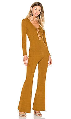 Privacy Please Verona Jumpsuit in Camel