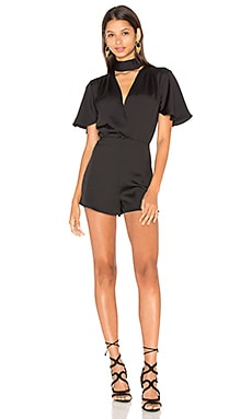 Privacy Please Clairborne Romper in Black