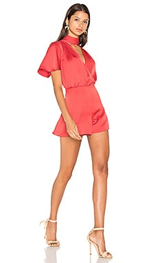 Privacy Please Clairborne Romper in Burnt Orange
