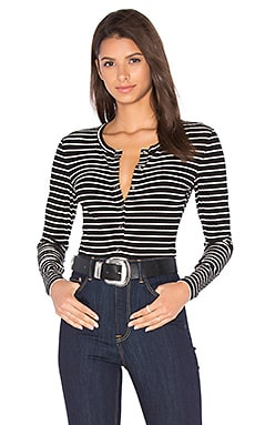 Peoria Bodysuit in Black Stripe