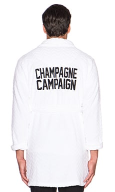 Private Party Champagne Campaign Robe in White