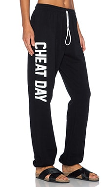 Private Party Cheat Day Sweatpants in Black