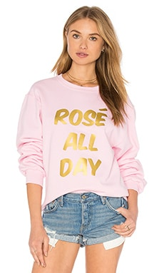 Rose Sweatshirt in Pink & Gold