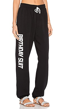 Private Party Birthday Suit Sweatpants in Black