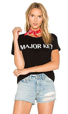Major Key Tee in Black