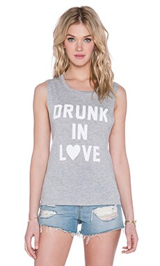 Private Party Drunk in Love Tank in Grey