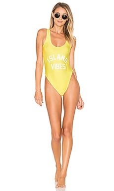 Island Vibes One Piece Swimsuit in Yellow