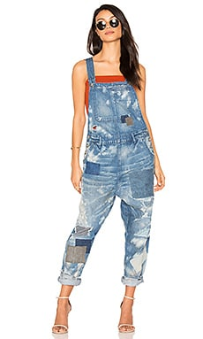 Patchwork Overall in Blue