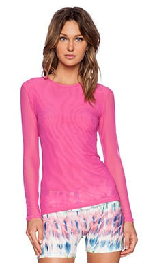 Prism Sport Mesh Long Sleeve Top in Lipstick