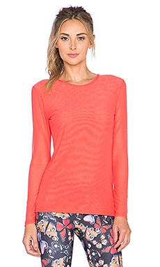 PRISMSPORT Mesh Long Sleeve Tee in Coral
