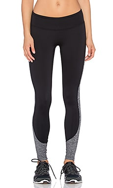 PRISMSPORT Fleece Legging in Black & Light Heather