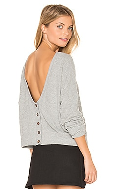Index Button Back Cardigan in Grey
