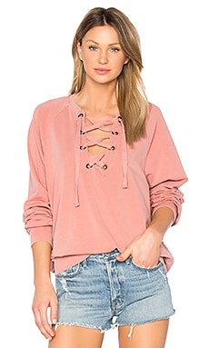 Slave to Love Lace Up Sweatshirt