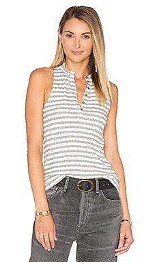 Hank Stripe Tank in White & Black