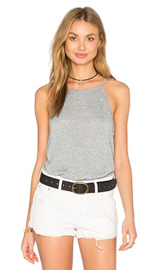 Sydney Shirttail Tank in Light Heather Grey