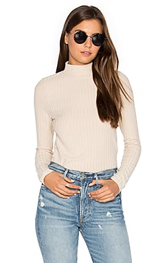 Bree Ribbed Long Sleeve in Tan